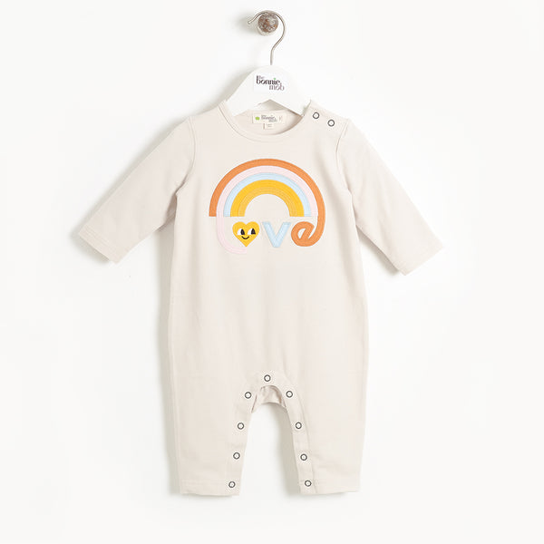 CAVERN - Baby Applique Playsuit - SAND LOVE