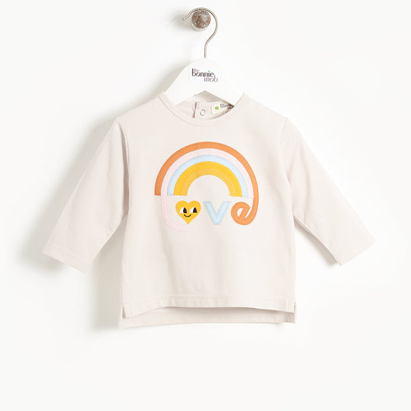 CHANCE - Baby Applique, Long Sleeve T-shirt - SAND LOVE