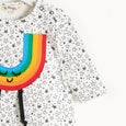 CHUCK - Rainbow Applique Playsuit - Baby Unisex - Cream star print