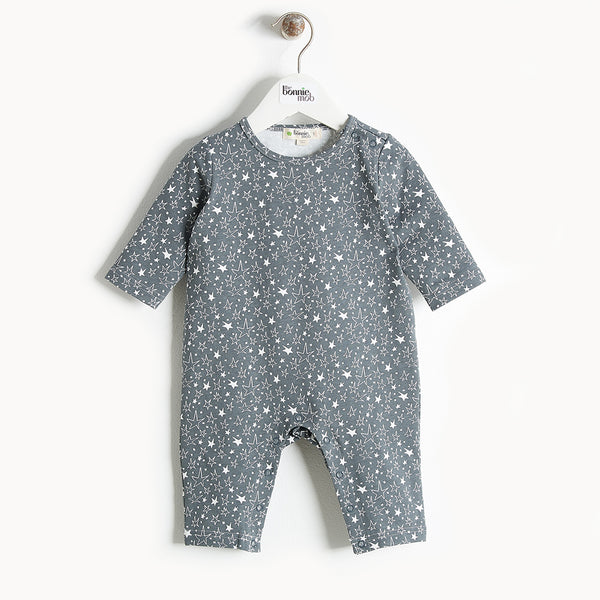 CHUCK (PLAIN) - Printed Playsuit - Baby Unisex - Grey star print