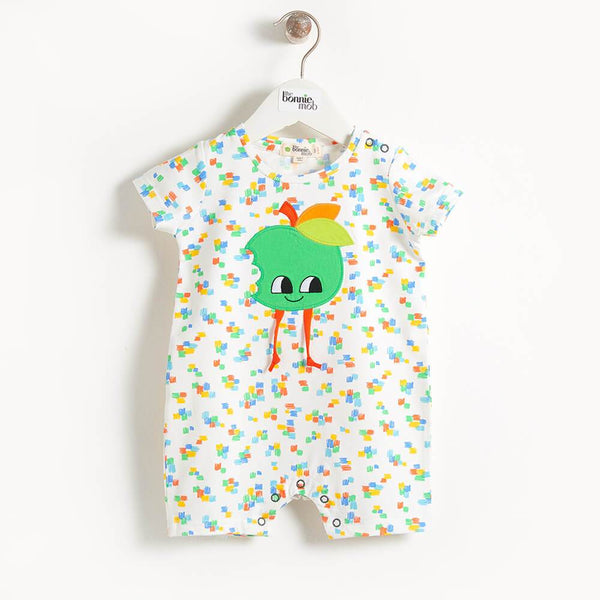 COSTA - Motif Shorty Baby Playsuit - Apple Applique