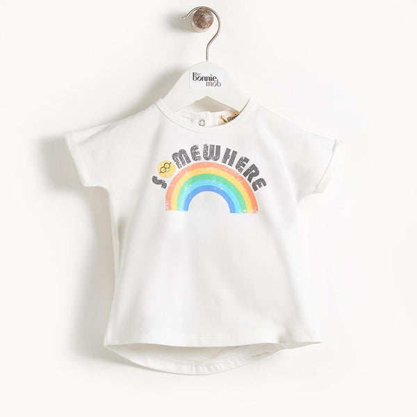 DEACON - Kimono Shape Kids T Shirt - Somewhere Over The Rainbow