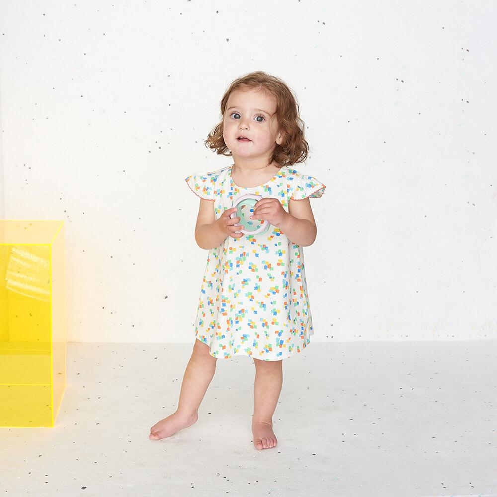 DELAUNAY - Printed Baby Sun Dress - Multicolour