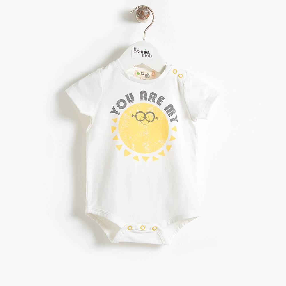 DELLER - Short Sleeve Baby Bodysuit - You Are My Sunshine print