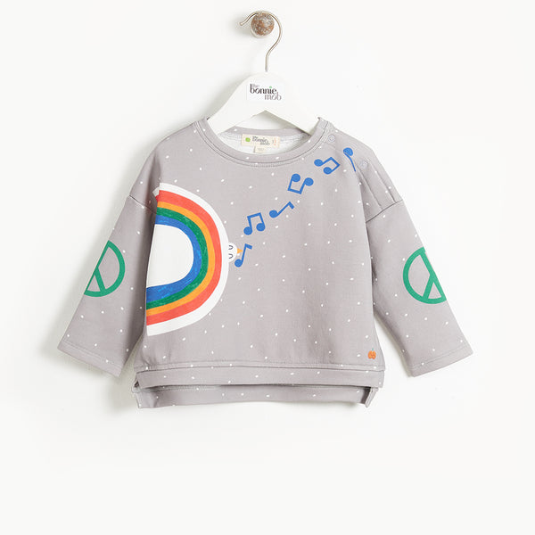 DOLLAR - Baby Peace Dove Sweatshirt - GREY