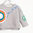DOLLAR - Kids Peace Dove Sweatshirt - GREY