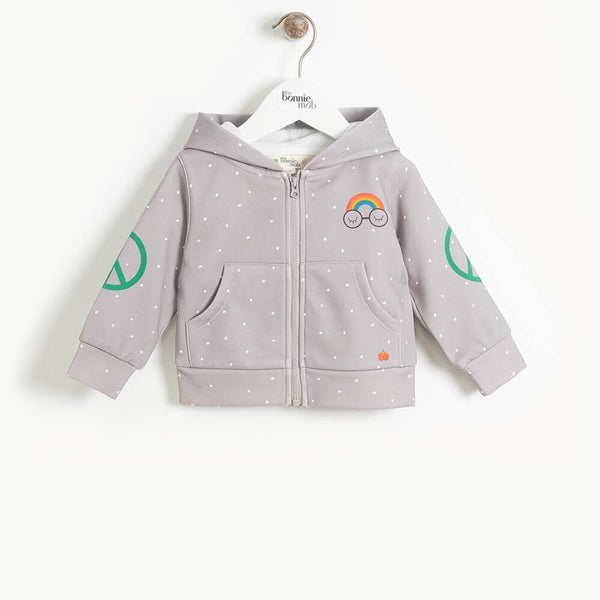 DONNY- Kids Pandas For Peace Hoodie  - GREY