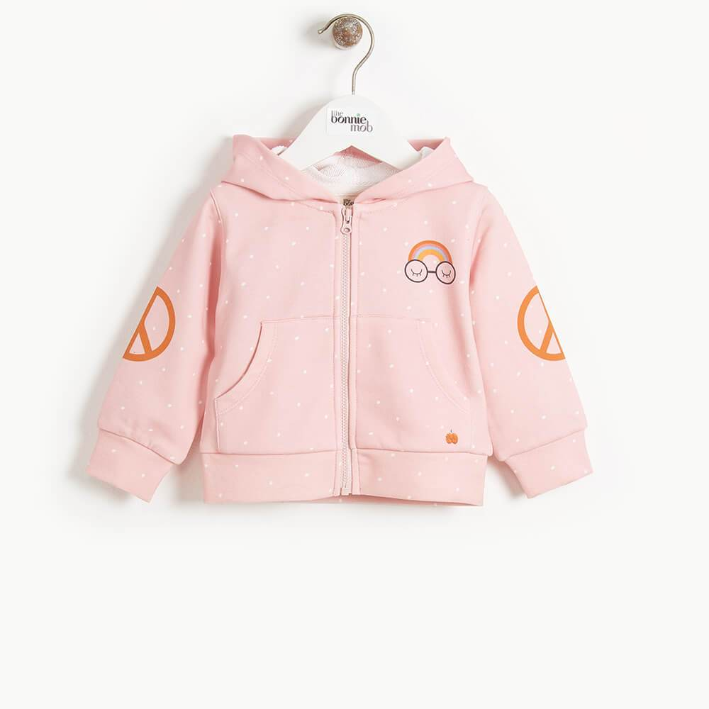 DONNY- Kids Pandas For Peace Hoodie  - PINK