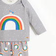 DOVE - Baby 2 Piece T-shirt and Legging Set - GREY DOVE PRINT