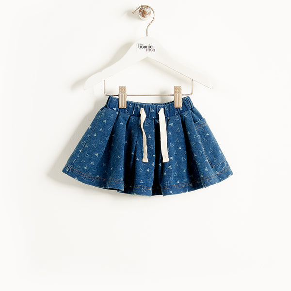 FLORENCE - Kids - Skirt - DENIM TEE-PEE PRINT