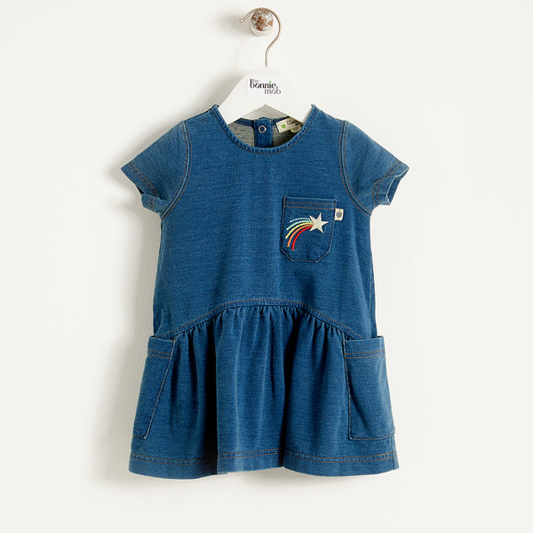 FOLK - Baby - Dress - DENIM