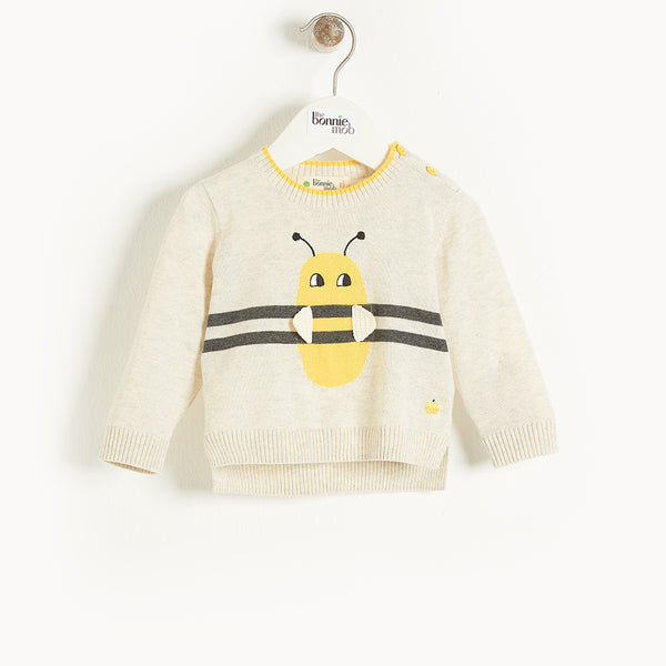GALLE - Baby Bee Stripe Intarsia Sweater PUTTY