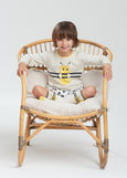GALLE - Kids Bee Stripe Intarsia Sweater PUTTY
