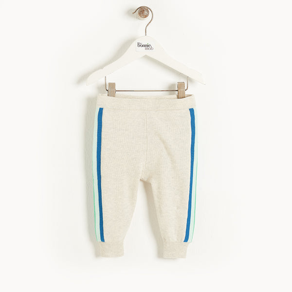GARDA - Baby Knitted Trouser BLUE STRIPE