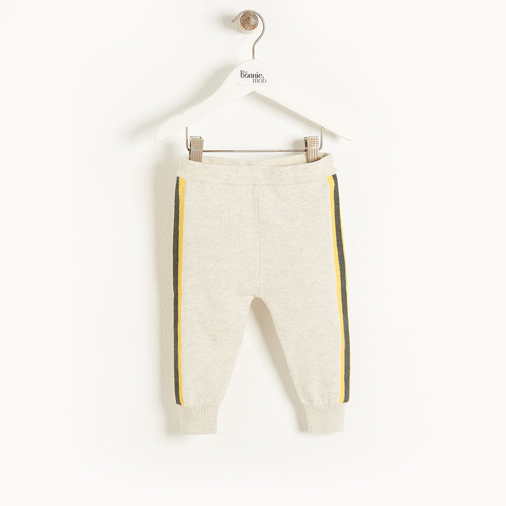 GARDA - Baby Knitted Trouser YELLOW STRIPE