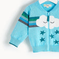 GOOFY - Rainbow Cloud Cardigan - Kids Boy - Pale blue