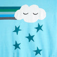 GROOVE - Rainbow Cloud Baby Shawl - Baby Boy - Pale blue