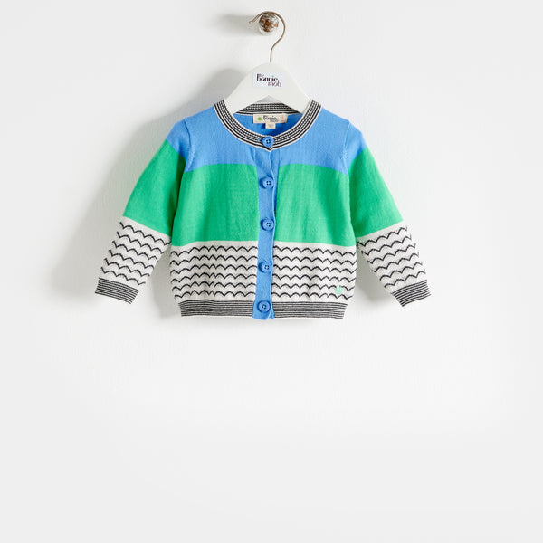 GILL - Kids - Cardigan - BLUE