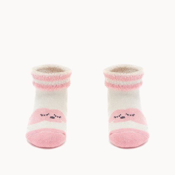 HAPPY - Baby Cloud Bootie Socks PINK