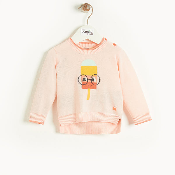 HASTINGS - Baby Lolly Intarsia Sweater PINK