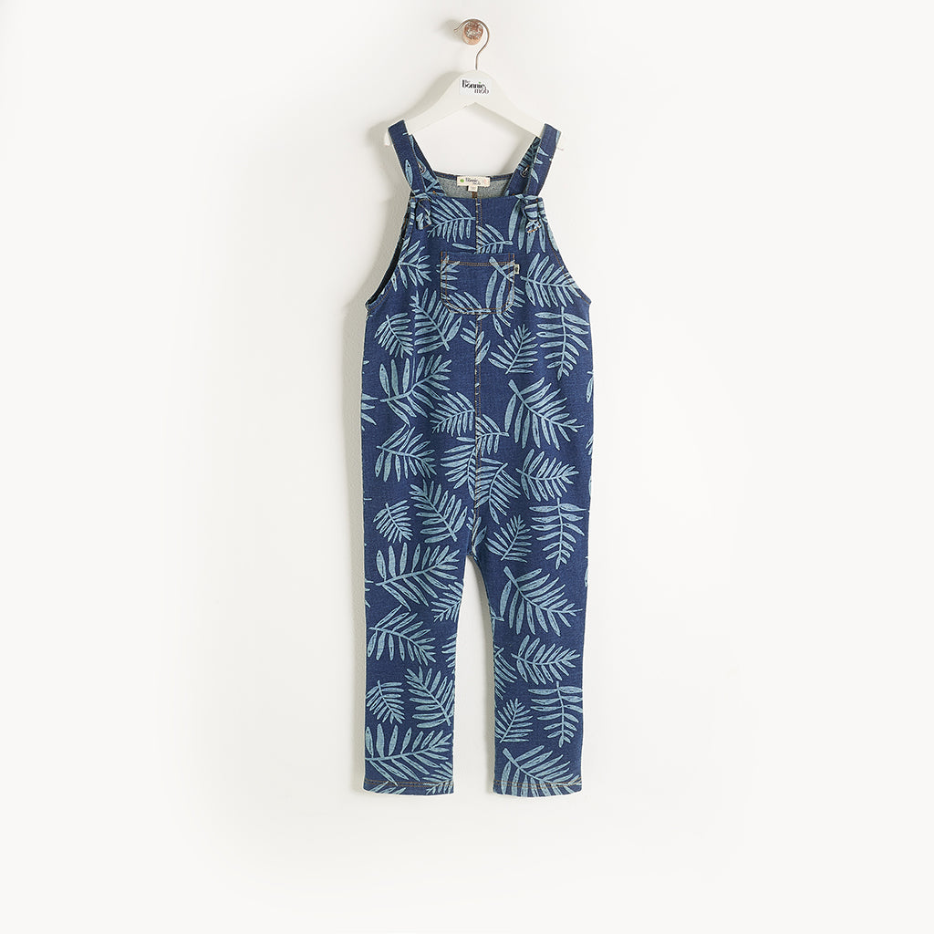 HILO - Kids - Dungaree - DENIM PALM PRINT