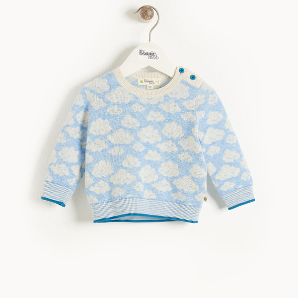 HOPE - Baby Cloud Jaquard Sweater BLUE