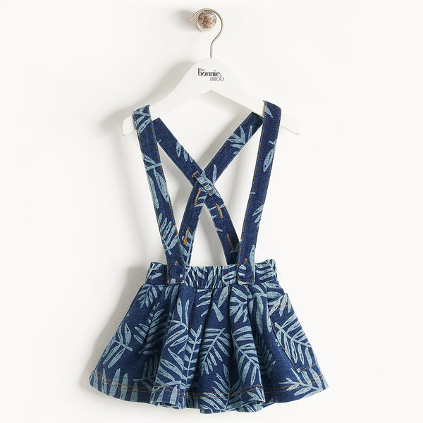 HULA - Baby - Skirt - DENIM PALM PRINT