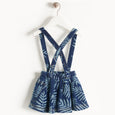 HULA - Kids - Skirt - DENIM PALM PRINT