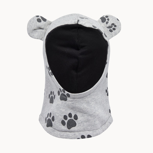 HUSTLE - Balaclava With Ears - Kids Unisex - Grey paws print