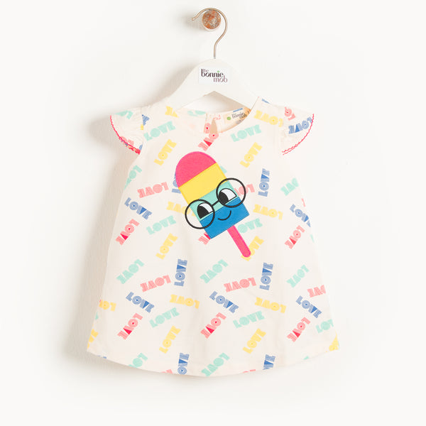 IBIZA - Baby Motif Dress ICE LOLLY