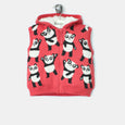 L-GUS-Panda Repeat Gilet-Kids Girl-Red