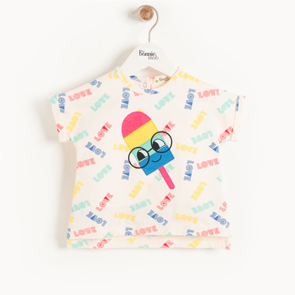 ISLE DE RE - Baby Motif T Shirt ICE LOLLY
