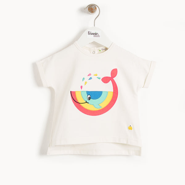 ISLE DE RE - Kids Motif T Shirt WHALE