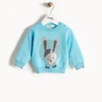 JACKSON - Bunny Intarsia Sweater - Kids Boy - Pale blue