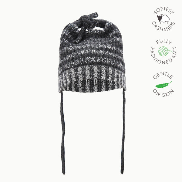 JOHN - Baby Chunky Knitted Hat - MONOCHROME