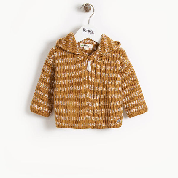 JUDE - Baby Chunky Knitted Cardigan - GINGER
