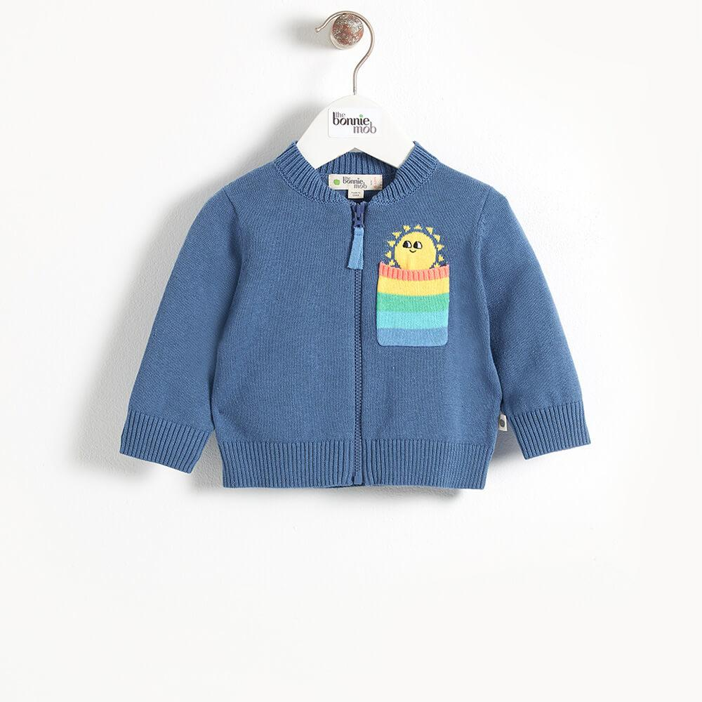 KAPOOR - Pocket Full Of Sunshine Baby Cardigan - Navy