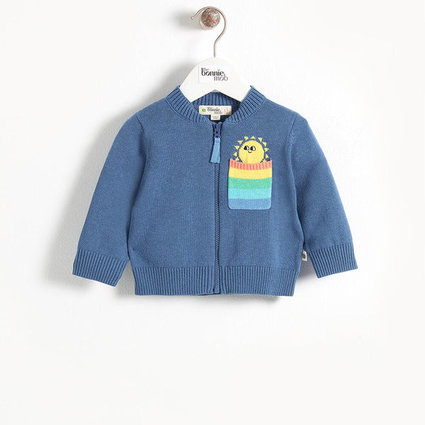 KAPOOR - Pocket Full Of Sunshine Kids Cardigan - Navy