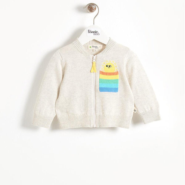 KAPOOR - Pocket Full Of Sunshine Baby Cardigan - Putty