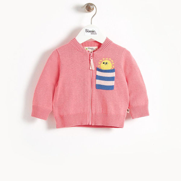 KAPOOR - Pocket Full Of Sunshine Baby Cardigan - Sorbet
