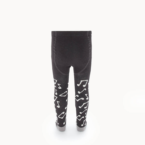 KARMA - Kids Music Note Tights  - CHARCOAL