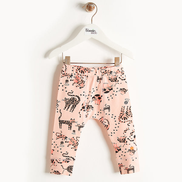 KAZAM - Printed Leggings - Baby Girl - Pink cat print