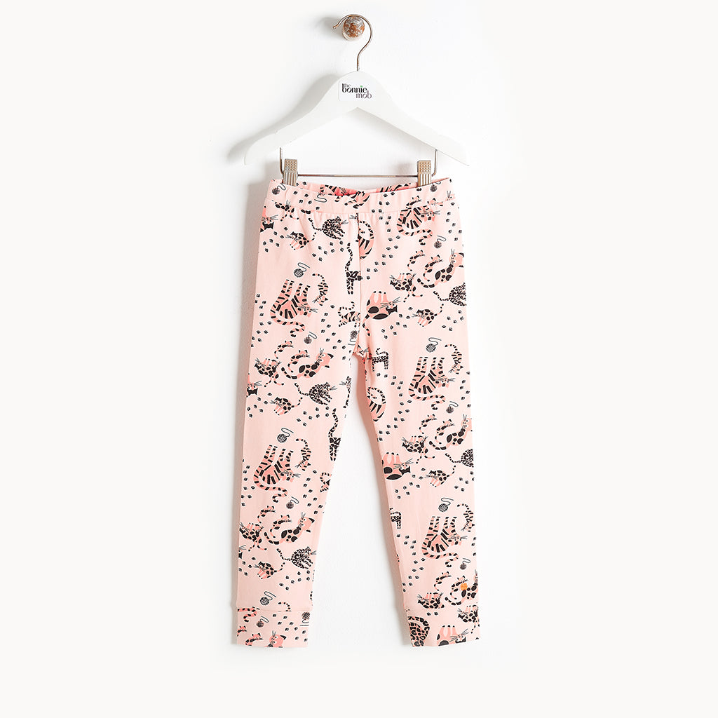 KAZAM - Printed Leggings - Kids Girl - Pink cat print