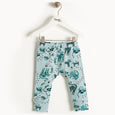 KAZAM - Printed Leggings - Baby Boy - Teal cat print