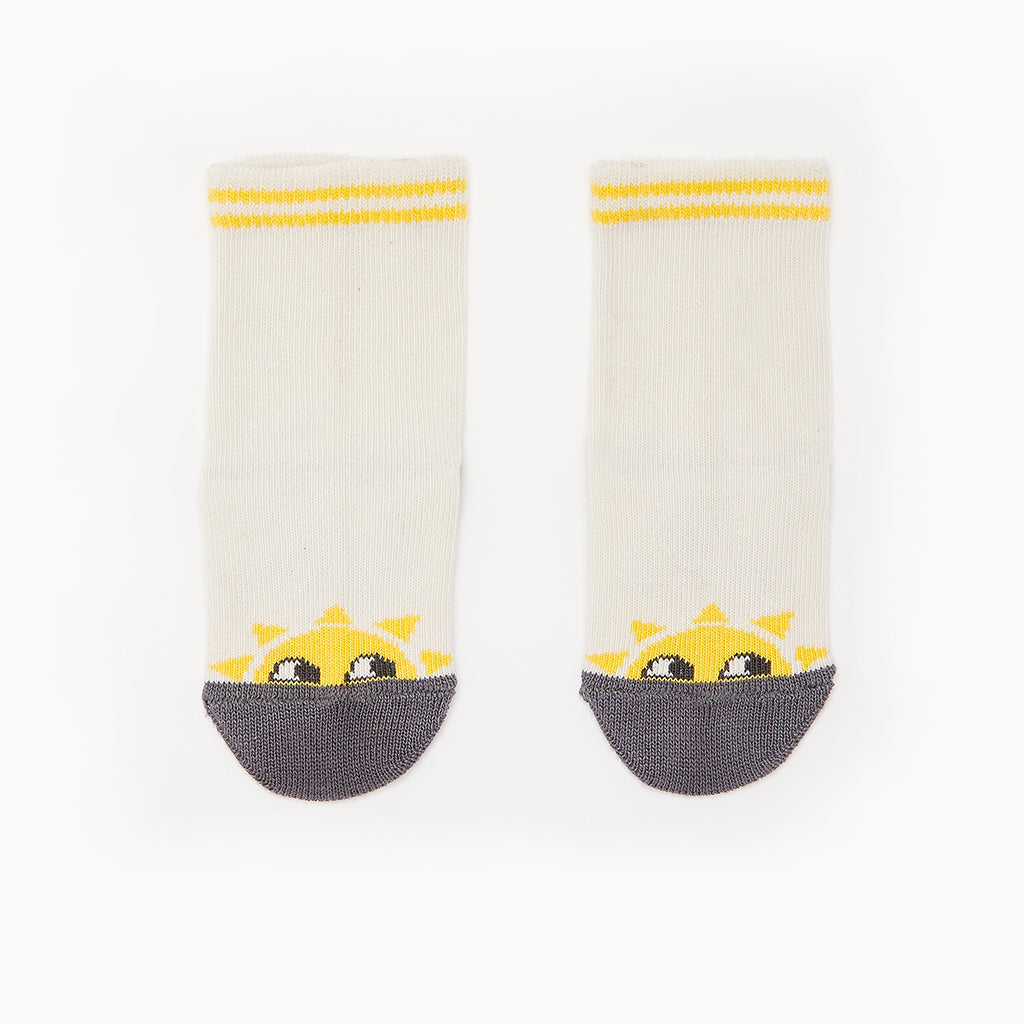 KELLY - Sunshine Baby Ankle Socks - Putty
