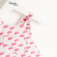 KIKI - Romper - Baby Girl - Pink brush wave print