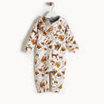 KIP - Printed Hooded Onesie With Faux Fur Lining - Kids Unisex - Sand cat print