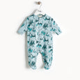 KITTY - Cat Print Sleepsuit - Baby Unisex - Sand cat print