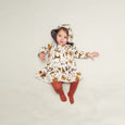 KUTIE - Printed Full Frill Dress - Baby Girl - Sand cat print