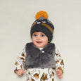 KUDDLES - Reversible Gilet With Faux Fur Lining - Kids Unisex - Sand cat print